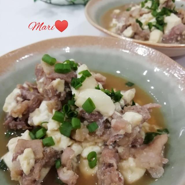 《レシピ有》レンジで簡単!肉豆腐、マンガ。