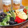 夏野菜のポン酢油淋鶏