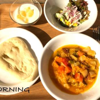 ✳︎絨毛膜血腫での入院の近況とナンと野菜煮込みの朝食✳︎