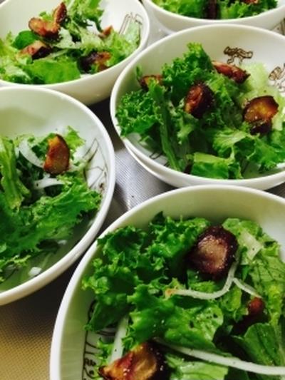 ★マロンでほろ甘!グリーンレタスのバルサミコサラダ