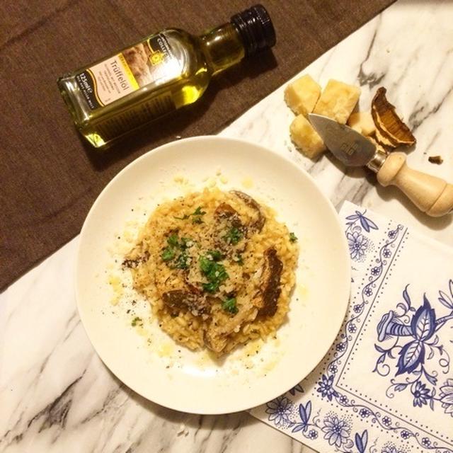 【レシピ】ポルチーニの濃厚リゾット トリュフ風味