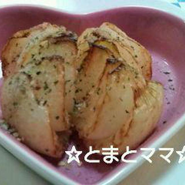つくれぽ☆新玉ねぎの丸ごと揚げ&ポテトのかき揚げ