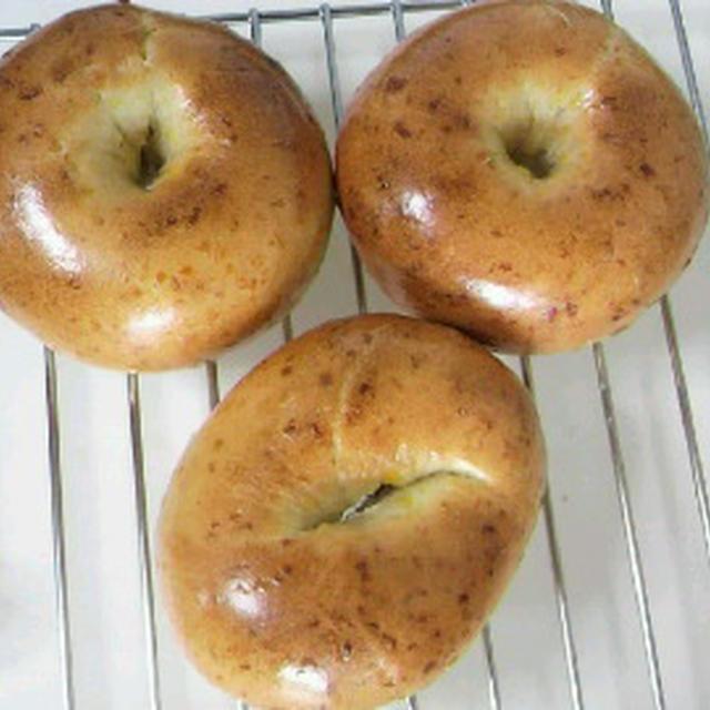 【コーンチーズベーグル】少量こだま・室温発酵/ケトリングとツヤ