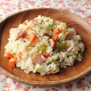 レンジで簡単♪ご飯と混ぜるだけの「ピラフ風ご飯」