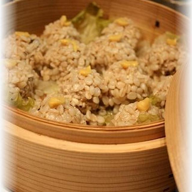 ヘルシー♪豆腐団子の押麦蒸し