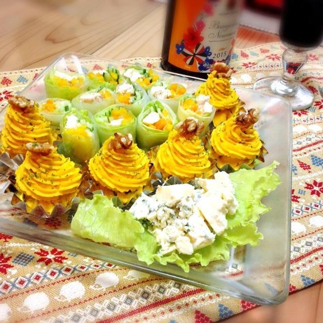 モンブランのアレンジ&TVでご紹介したハンバーグ〜パーティー料理編〜