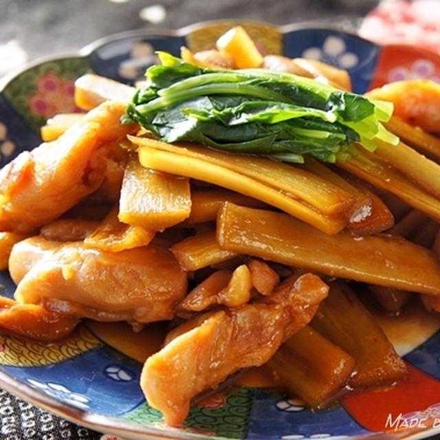 タバスコは和食にも合うんです♪ 鶏肉とごぼうのあまから〜い金平
