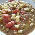レンズ豆のスープパスタ