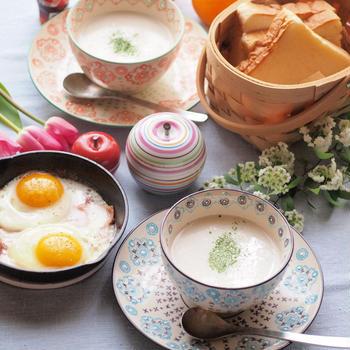 玉ねぎのポタージュで朝ごはん