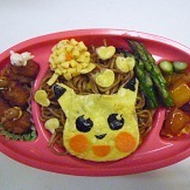 ポケモン 焼きそば弁当♪♪  飾り巻き寿司レッスン6月 カエル