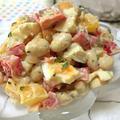 ねりごま使いきり作戦☆ お豆とパプリカの柚子胡椒ごまサラダ