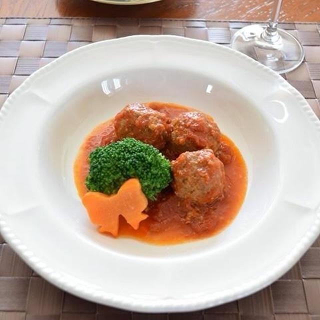 バジルミートボールのトマト煮込み  ちょっと差がつくおもてなし料理!