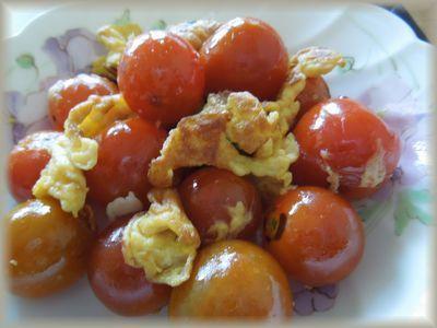 プチトマトのふんわり卵炒め