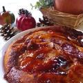 キャラメルりんごのヨーグルトケーキ