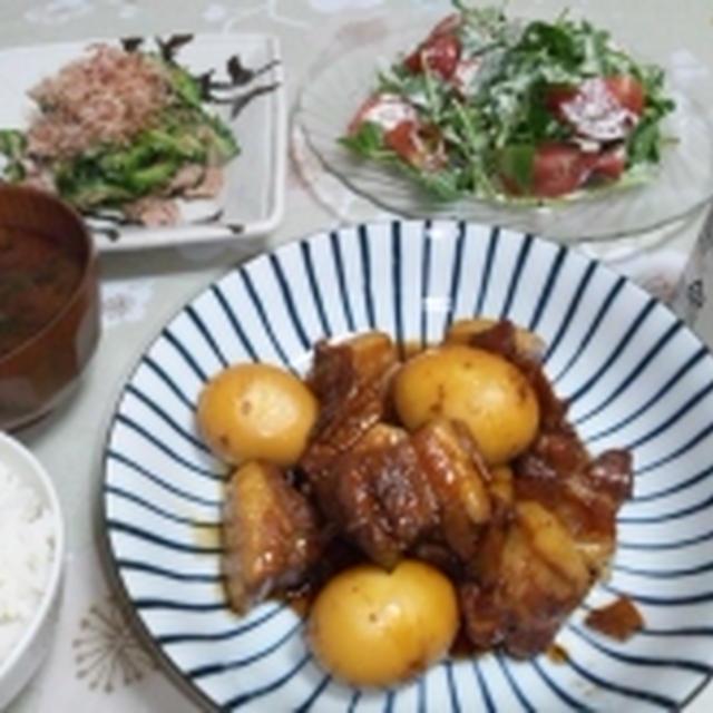豚の角煮+シーザードレッシング☆