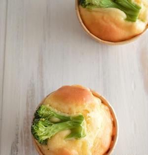 朝食にピッタリ♪ブロッコリーとコーンの チーズマフィン