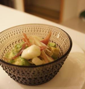 アボカドと長芋のナムル(レシピ)