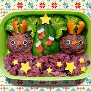 クリスマス弁当☆肉詰めツリー&トナカイ