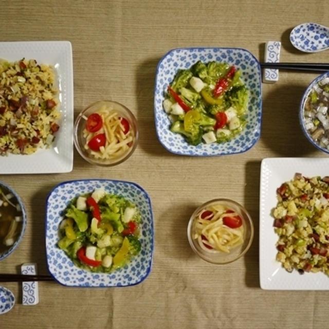 パラパラ炒飯で中華の献立