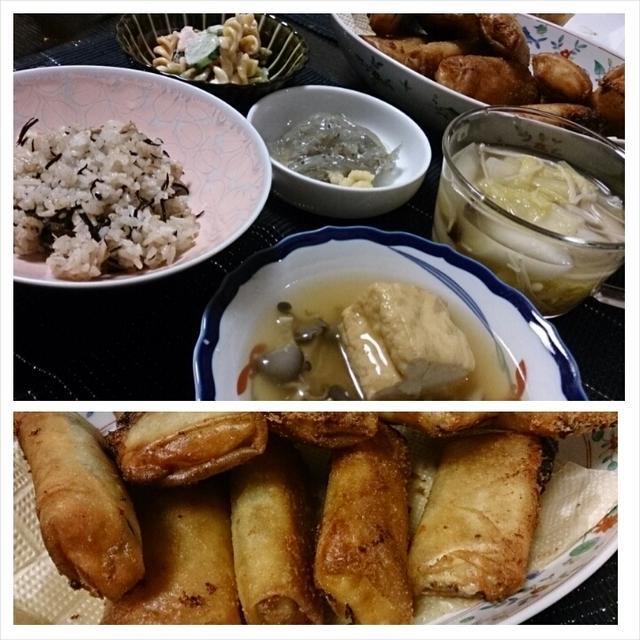 お夕飯◆お魚で春巻