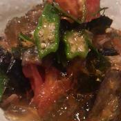 夏野菜と出汁の生姜ジュレかけ