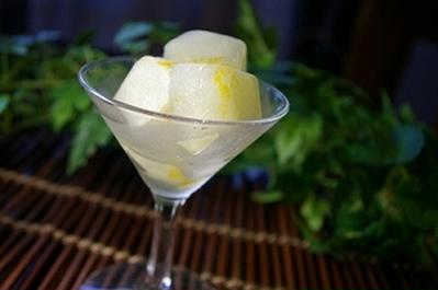 生姜風味のレモンシャーベット
