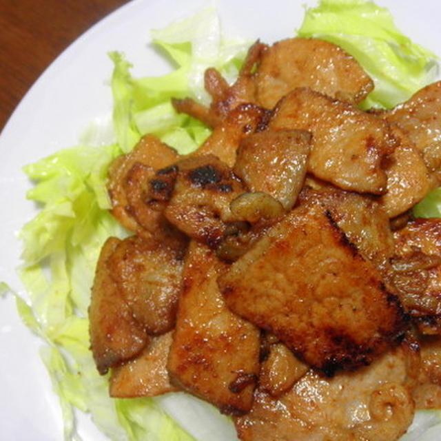 豚ロースの味噌漬け焼