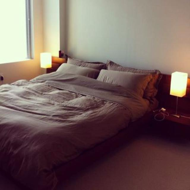 IKEA キングサイズベッド(ミディアムブラウン)