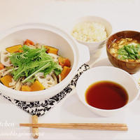 <もち麦ごはん>はじめました♡と定食屋さん風 豚と野菜の蒸し鍋♡