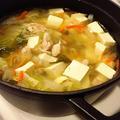 鶏のエキスたっぷり 蒸し鶏とたっぷり野菜の優しいスープ