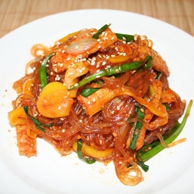 辛口チャプチェ(매운잡채) -- 新しい楽しみ。コチュジャンチャプチェ