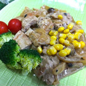 豚ロース肉のクリームソース