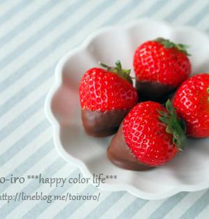 バレンタインに♡超簡単なイチゴチョコ