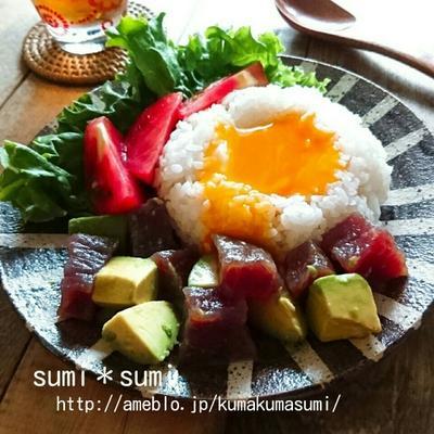 おつとめ刺身でマグロのポキ丼(レモン飯)