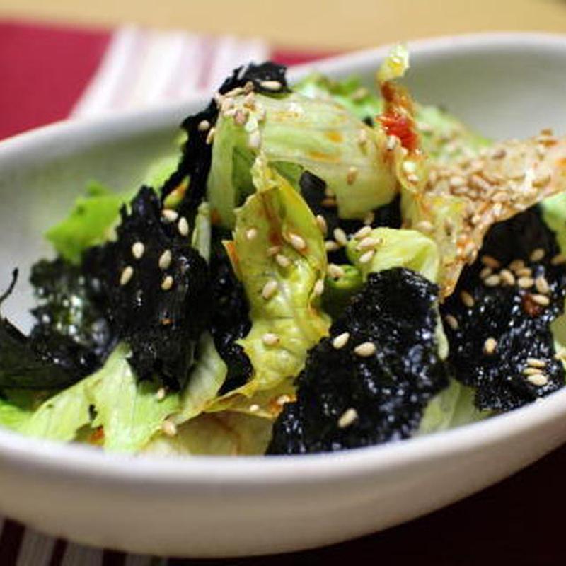 お手軽副菜に♪「レタス×海苔」のおすすめサラダレシピ