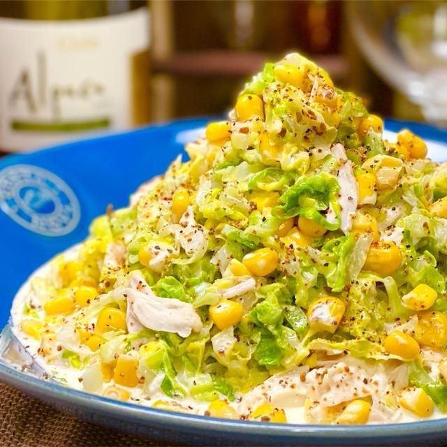【レシピ】春キャベツとささみのコールスローサラダ