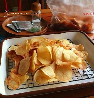 手作りポテトチップス♡のり塩、コンソメ、ガーリック味。