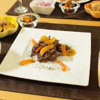 さっぱりと牛肉とパプリカのマリネソテー☆