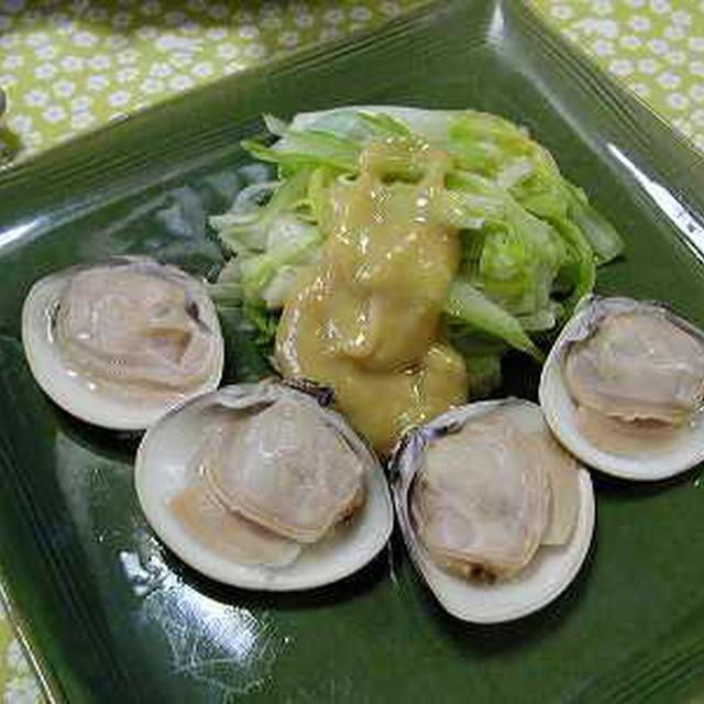 うるいと蛤の酢みそ和え(レシピ)