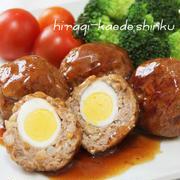 お弁当にも◎!うずら卵入りコロコロ照り焼きハンバーグ