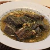 牛すじ肉とこんにゃくと大豆のスープ煮込み