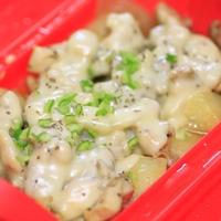 ルクエレシピ☆鶏とポテトのカレー風味チーズ蒸し