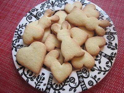 割れにくいクッキー♪(うさぎ&ハート)