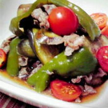 ◎牛肉と夏野菜の煮びたし◎定番めんつゆで◎