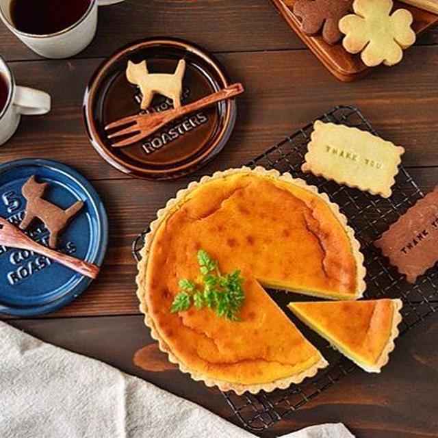 【お菓子】かぼちゃのチーズケーキタルト(マフィンカップでも)