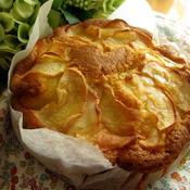 バニラ香るりんごケーキ(バター不要)
