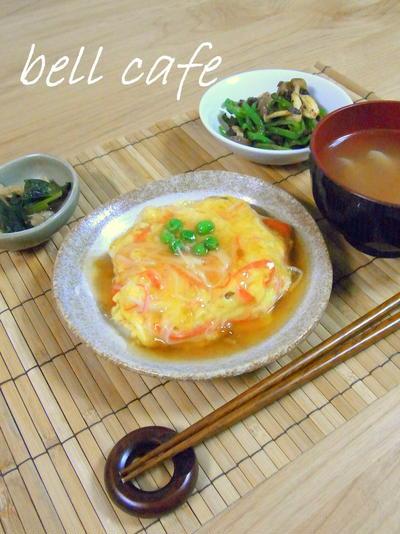 生姜の香るカニカマ天津飯