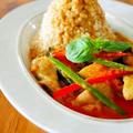 大噴火レッドカレー♪大人気の妖怪食堂レシピ。お家で簡単タイ料理@アジアごはんごちそうワンプレート! by みぃさん