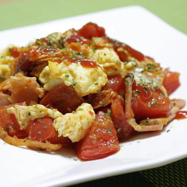 12/05/04 トマトとキムチの卵炒め