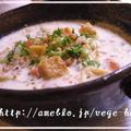 豆腐クルトンで具だくさん豆乳クリームスープ☆マクロビレシピ by MOMONAOさん